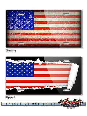 American Flag 6 x12 Aluminum Novelty License Plate - Different Designs - USA