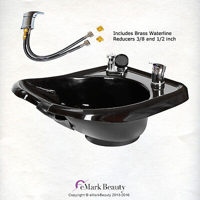 Shampoo Bowl Wall mounted Backwash ABS Plastic Salon Spa Equipment TLC-B13W-GT