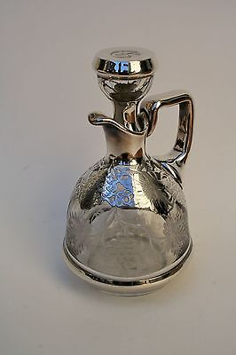 Antique Silvered Glass Decanter
