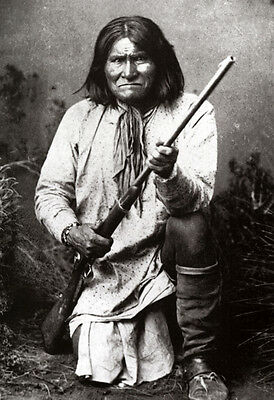 Geronimo Poster, Native American Indian, Rifle, Apache Leader, Warrior