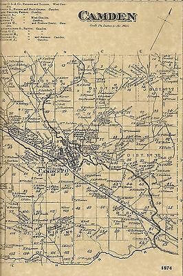 Camden Westdale NY 1874  Map with Homeowners Names Shown