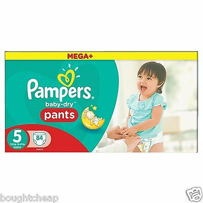 Pampers Mega Plus Baby-Dry Pants - Size 5, Pack of 84