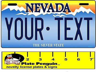 NEVADA State License Plate, Custom, Personalized, replica, Motorcycle tag,