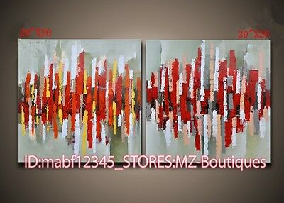 YH356 2PCS Hand painted Oil Canvas Wall Art Home Decor modern abstract NO Frame