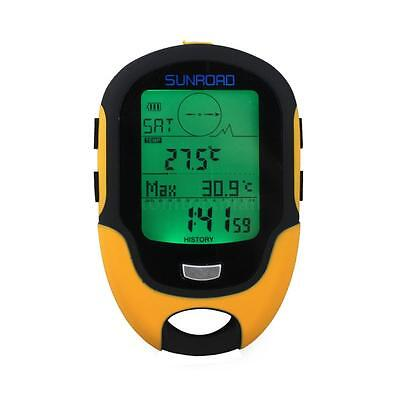NEW Sunroad FR500 Multifunction LCD Altimeter Barometer Compass Thermometer TM