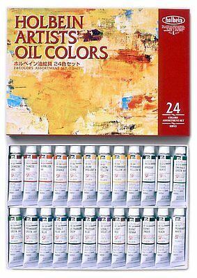 Holbein Extra-Fine Artists Oil Color Set of 12/18/24/50 10ml Tubes