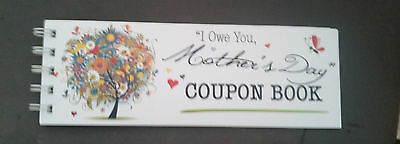 i owe you mothers day coupon book colourful floral tree perfect gift