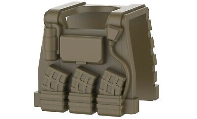 Tactical Army Vest Digital compatible with toy brick minifigure Camo B20 W285