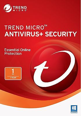 Trend Micro Antivirus+ Security 2017 / 2016 - 1 Year 1Pc (All Languages) Win10