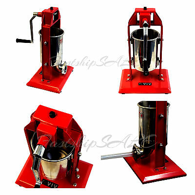 Vertical Commercial Sausage Stuffer Stainless Steel Meat Press Pro 3L / 7LB -New