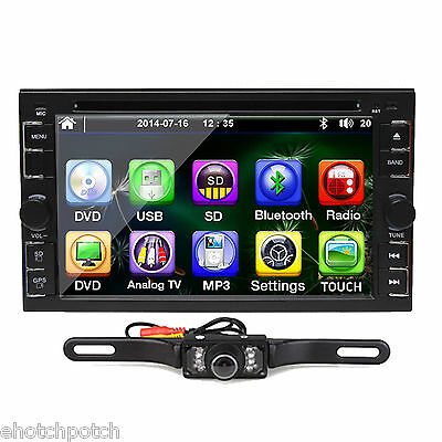 "Car Stereo 2Din Hd 6.2"" Car Dvd Player Radio Ipod Bluetooth Touch Screen+Camera"