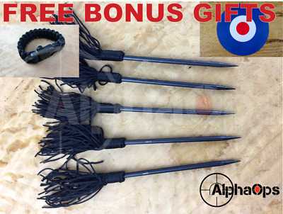 """New Competition Ninja Throwing Spike Dart Nail 5pc Set x 6"""" Sting Archery Camp"""