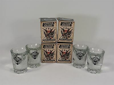 SAILOR JERRY SET OF FOUR(4) 1oz. SHOTS LIMITED EDITION MEASURING GLASS SERIES #2