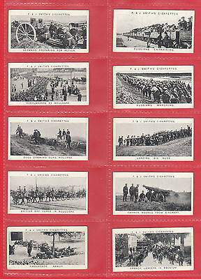 F.  &  J.  Smith  -  Rare  Set  Of  25  War  Incidents  ( W.w.i.) Cards  -  1914