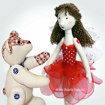 FABRIC SOFT TOY Sewing PATTERNS Multiple Choice Bunny, Rag Doll ...