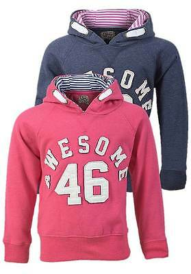 NEW Girls Life & Legend Awesome 46 Hooded Sweatshirt Hoody Blue or Pink Ages 3-8
