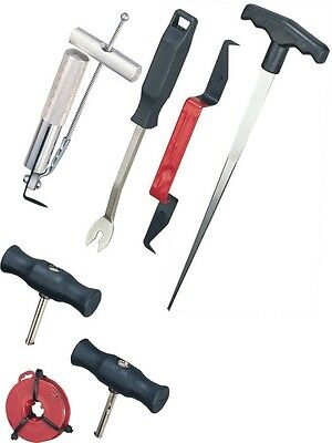 WINDSCREEN GLASS REMOVAL TOOL SET for BONDED & RUBBER SEAL WINDSHIELD SCREENS