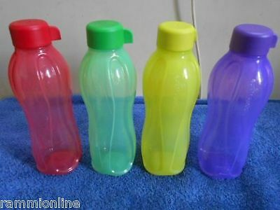Tupperware Aqua safe ECO Sports 500 ml Water Bottles ( Set Of 4 ) 500ml Original