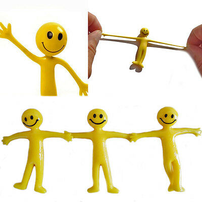 Kids Stretchy Smiley Man Party Bag Filler Children's Fun Toy Stretch Men 6,12,24
