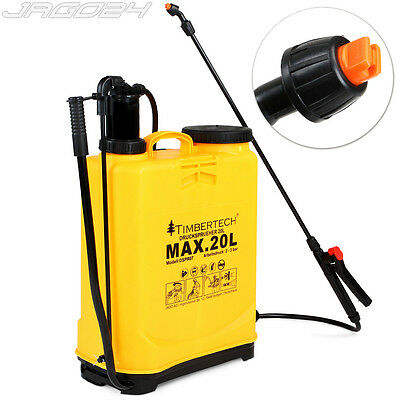 Knapsack Pressure Sprayer 20l Garden Chemical Backpack Water Farming Nozzles