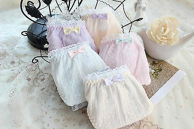 Women Lady Cotton Lace Frilly Trim Undies Panties Briefs Underwear Lingerie