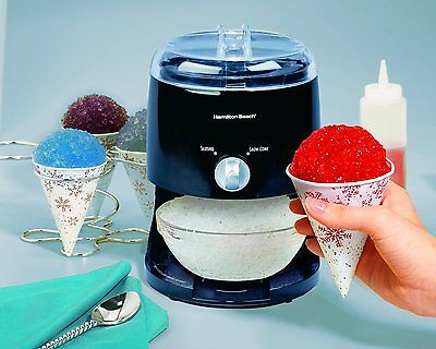 Snow Cone Maker Icy Treat Hamilton Beach New Electric Crusher Ice Shaver Machine