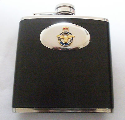Raf (Royal Air Force) Cut Out Badge Hip Flask