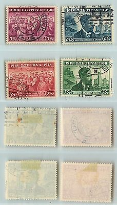 Lithuania, 1939, SC 306-309, used. d5242