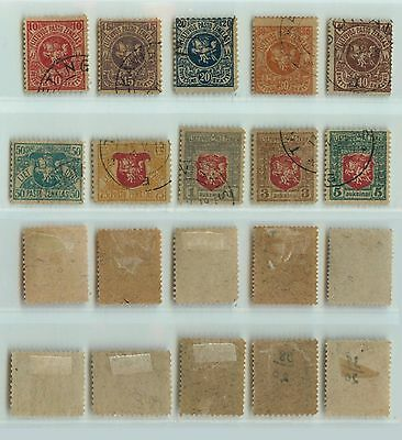 Lithuania, 1919, SC 30-39, used, wmk '144'. d727