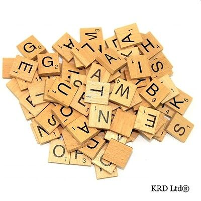 A to Z Wooden Scrabble Tiles Scrabble Letter Individual Letters Tile Craft Game