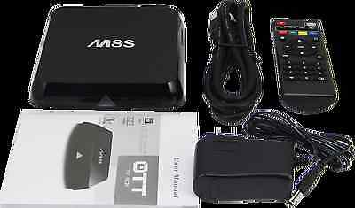 M8S Quad Core Android Tv Box Apple Tv2 Killer 4K Plug N Play Kodi Fully Loaded