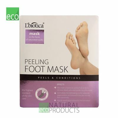 L'biotica Natural Exfoliating Peel Foot Sock Mask 40ml