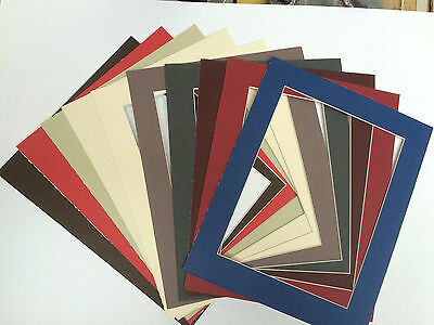 Pack of 10 Photo / Picture Mounts - Assorted Colours