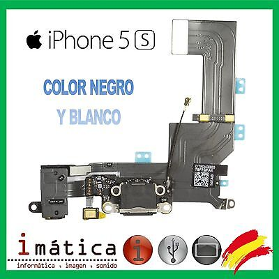 Conector Carga Iphone 5S Color Negro Blanco Flex Power Jack Auricular Microfono