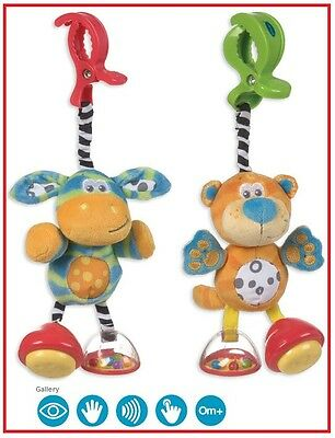 ❤ PLAYGRO Brand New Toy Box Dingly Dangly Tiger & Zebra 2 Style to choose ❤
