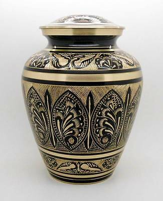 Solid Brass Adult Artisian Hand Crafted Memorial Cremation Keepsake Funeral Urn