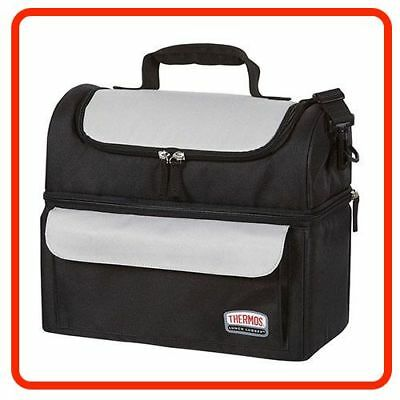 Thermos Food Jar LUNCH LUGGER COOLER BAG SOFT SIDED Dual Insulated Compartments