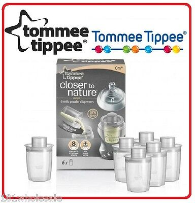 ❤ 6 x Tommee Tippee Close To Nature Milk Formula Dispenser Brand New BPA Free ❤