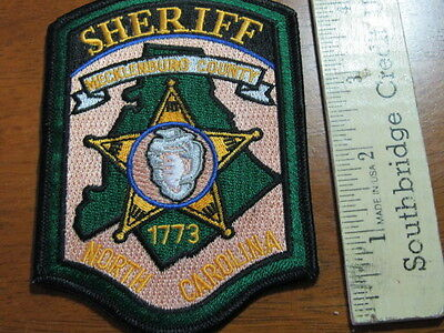 NORTH CAROLINA SHERIFF POLICE  SHOULDER PATCH    BX L 3