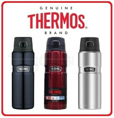 Thermos STAINLESS STEEL Vacuum Insulated King Bottle Drink 710ml Leak Proof 24oz