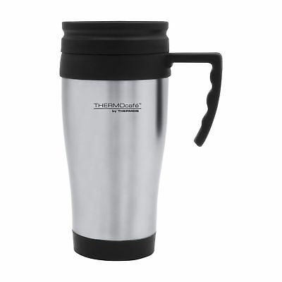 Thermos Themocafe Stainless Steel Insulated Travel Car Mug With Handle 400ML