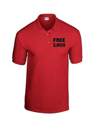 10 Custom Embroidered Wrinkle/Shrink Resistant DRY BLEND Polo Shirts FREE LOGO