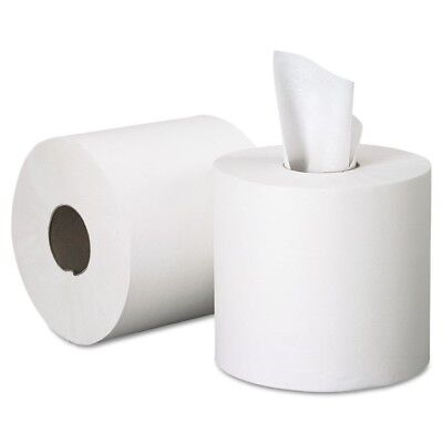 Center-Pull Paper Roll Towels, 8 x 15, White, 500/Roll, 4 Rolls/Carton