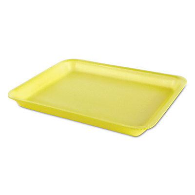 Processor/Heavy Supermarket Tray, Yellow, 10-1/2x8-1/4x1-1/8, 100/Bag