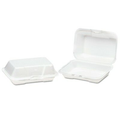 Genpak Foam Hinged Carryout Container, Deep, 8-1/4x5-1/5x3, White, 125/Bag