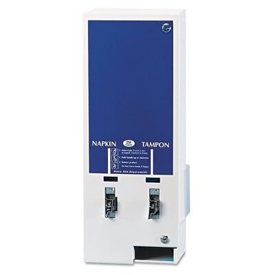 Electronic Vendor Dual Sanitary Napkin/Tampon Dispenser, Coin Operated, Metal