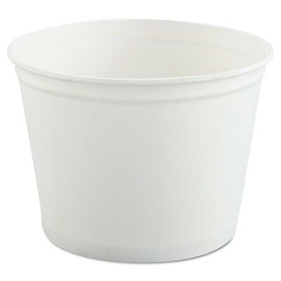 Double Wrapped Paper Bucket, Unwaxed, White, 53 oz, 50/Pack - SCC 3T1U