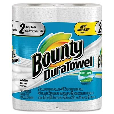 DuraTowel Paper Towels, 2-Ply, 11 x 11, 49/Roll, 24 Roll/Carton - PGC 84877