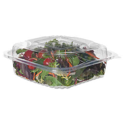 Eco-Products Clear Clamshell Hinged Food Containers, PLA, 8 x 8 - Includes 16...