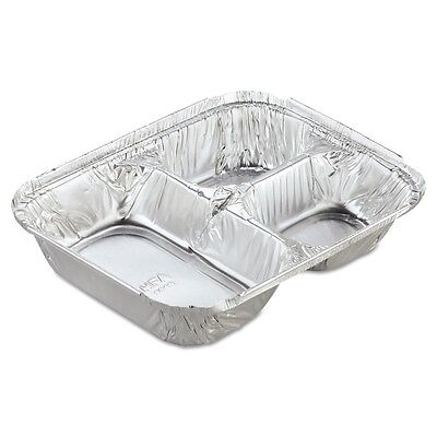 Aluminum Oblong Container with Lid, 3-Compartment - HFA 204535-250W